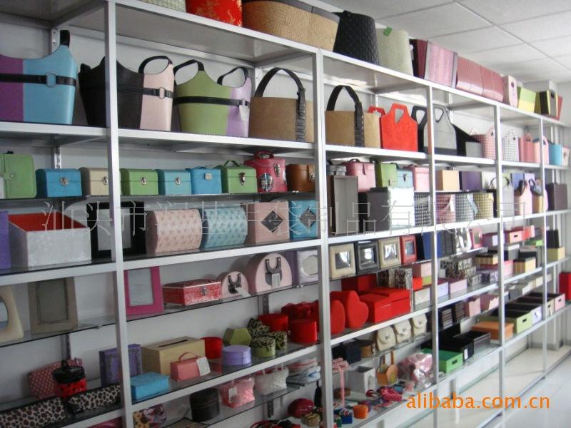 2010年時尚且美觀、耐用橘紅色帶金絲納物盒
