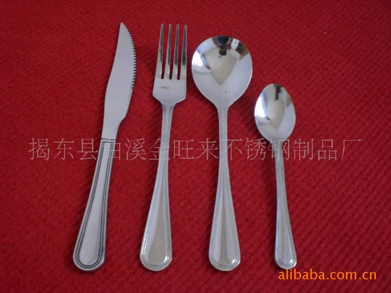供应卡通餐具、不锈钢、塑料刀叉勺 韩式套装(图)