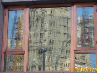 温州坚美牌铝合金断桥隔热平开窗 内开内倒窗 高档别墅防盗窗门