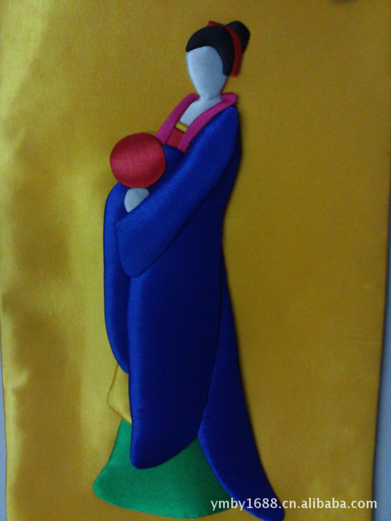 国厂家直销年货布艺贴画QQ企鹅图 春节热销产品 -价格,厂家,图