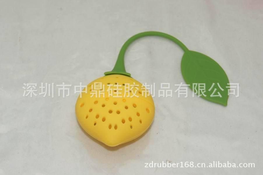 市场最低价 柠檬草莓 硅胶茶叶包 矽胶茶包
