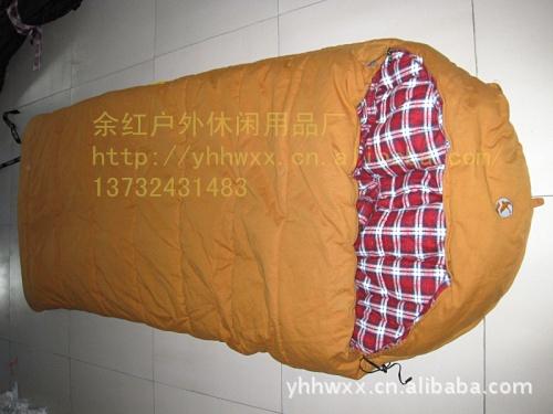 冬季睡袋户外 欧美款式 保暖睡袋 帆布睡袋 加宽睡袋