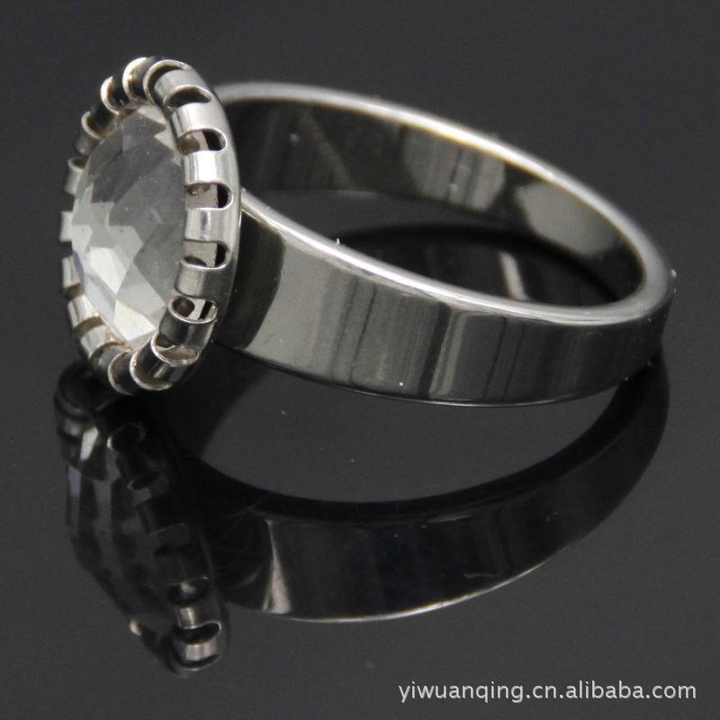 厂家不锈钢戒指指环.树脂珍珠玻璃石头戒指.耳环