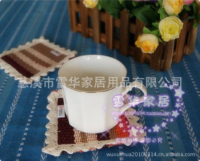 批发 时尚简约条纹餐垫碗垫杯垫多用垫 隔热垫多款式10*10