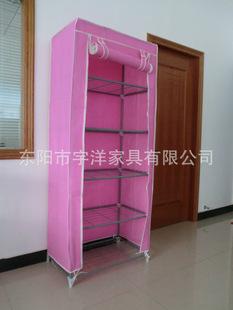 外贸款,单开门设计,卷帘式柜门,简易衣柜