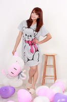 Женские ночные сорочки и Рубашки Cartoon nightgown sleeping dress fashion maternity 2012 100% cotton fashion plus size