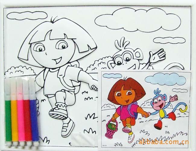 色立体水彩画 卡通水彩画 小朋友最喜欢玩具
