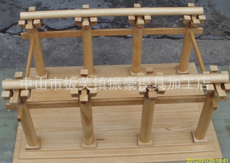 专业生产竹木工艺建筑模型,木工艺产品设计雕刻图片