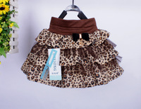 Free shipping! children's tutu leopard skirts for girls,she can wear in spring or winter,4 sizes for 3~8 Y,wholesale