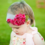Wholsale baby Hair band DAISY FLOWER
