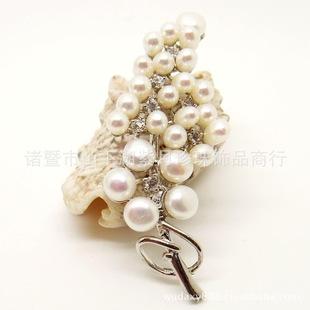 天然珍珠胸花 淡水珍珠胸针 时尚高贵 小额混批