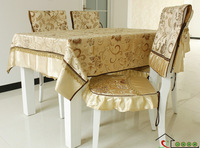 Hot-selling dining chair bundle tables and chairs set cushion cloth dining table cloth tablecloth set (TC001)