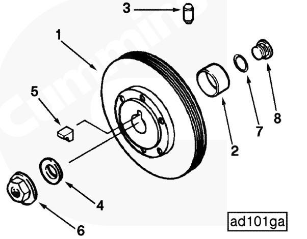 康明斯中国皮带轮BM87939