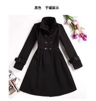 Женская одежда из шерсти Woolen outerwear 2012 autumn and winter women ultra long trench double breasted woolen overcoat outerwear