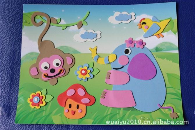 家直销 EVA贴画,EVA儿童贴画, EVA手工制作 拼图 拼板尽