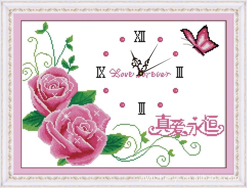 六尺牡丹 紫 十字绣批发 珍艺十字绣代理图片