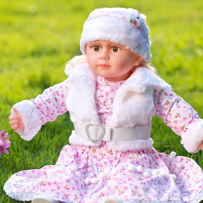 厂家批发 孩之乐多功能对话 智能娃娃 外接MP3仿真 会对话