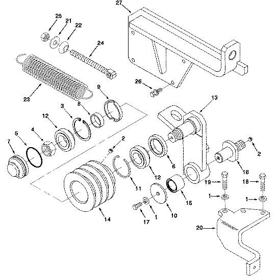 NTA855-C360柴油机张紧轮支架3326142用于D155A-1推土机发动机SO10003