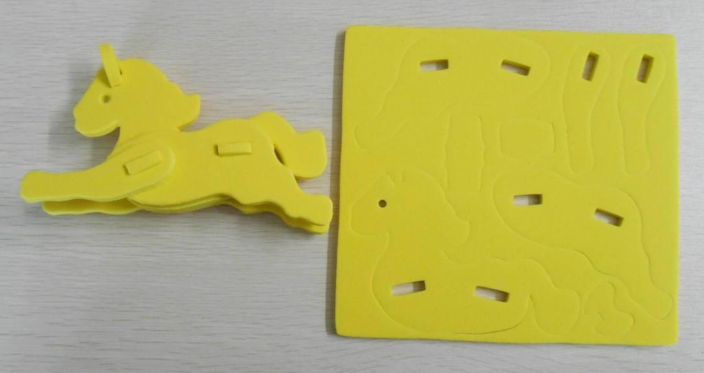 婴幼儿玩具 教玩具 益智积木 卡通小马EVA积木 早教用品 环保安全