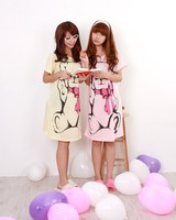 Cartoon nightgown sleeping dress fashion maternity 2012 100% cotton fashion plus size