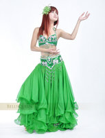 Женская одежда Bellyqueen 802 Belly Dace Costumes Set, Handmade Beaded Set, Bra Belt Skirt, Ladies Stage Wear
