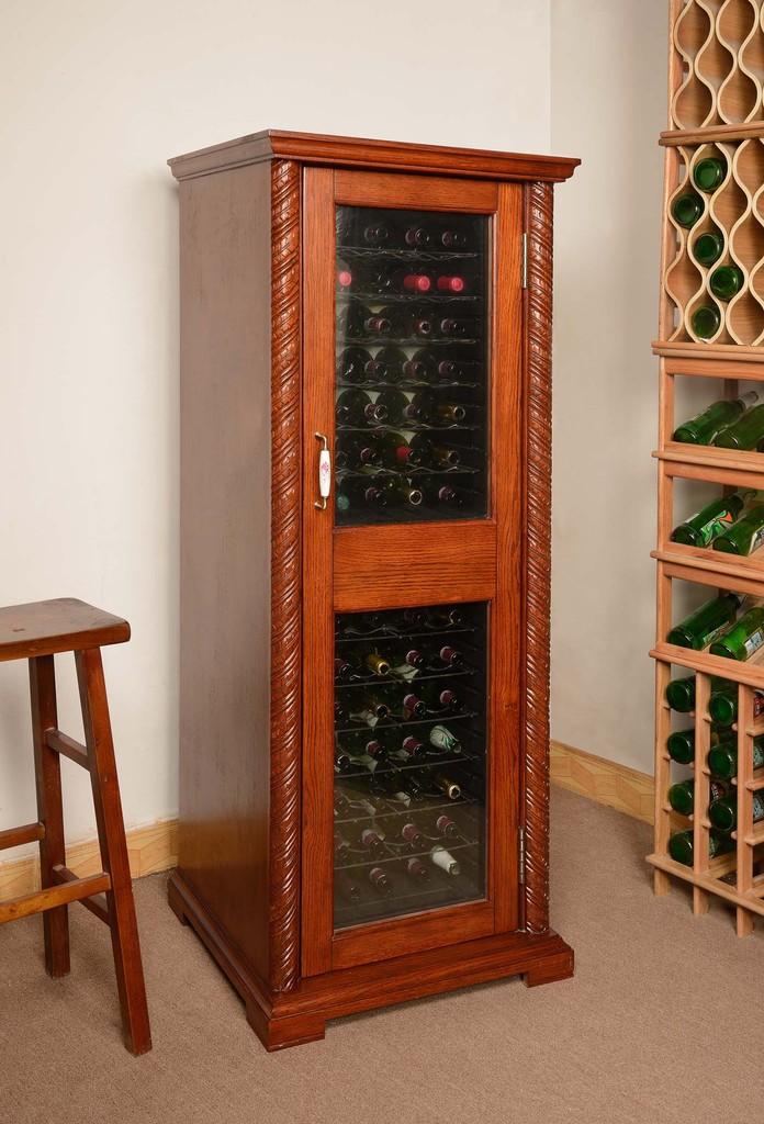 压缩机红酒柜 恒温红酒柜 电子酒柜 橡木红酒柜 定制实木