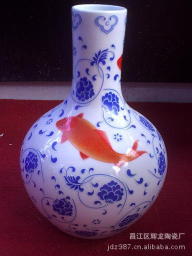 工艺瓷器厂家直销夜光小件花瓶大量批发50元一个 花瓶批发 夜光