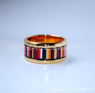 欧美流行饰品珐琅彩圆形个性指环混批厂家供货