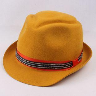 2014秋冬季新款羊毛呢礼帽子 女士 英伦复古爵士帽