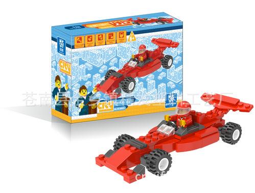 开智优质热销小鲁班积木 方程式赛车积木玩具 新款塑料积木玩具 -价