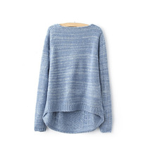 Свитер для беременных Fashion women's long after light blue maternity sweater pullover twisted