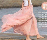 Женская юбка 2013 Fashion Fairy Skirt Bohemia Altra Long Expansion Bottom Chiffon Bust Skirt 6 Colors