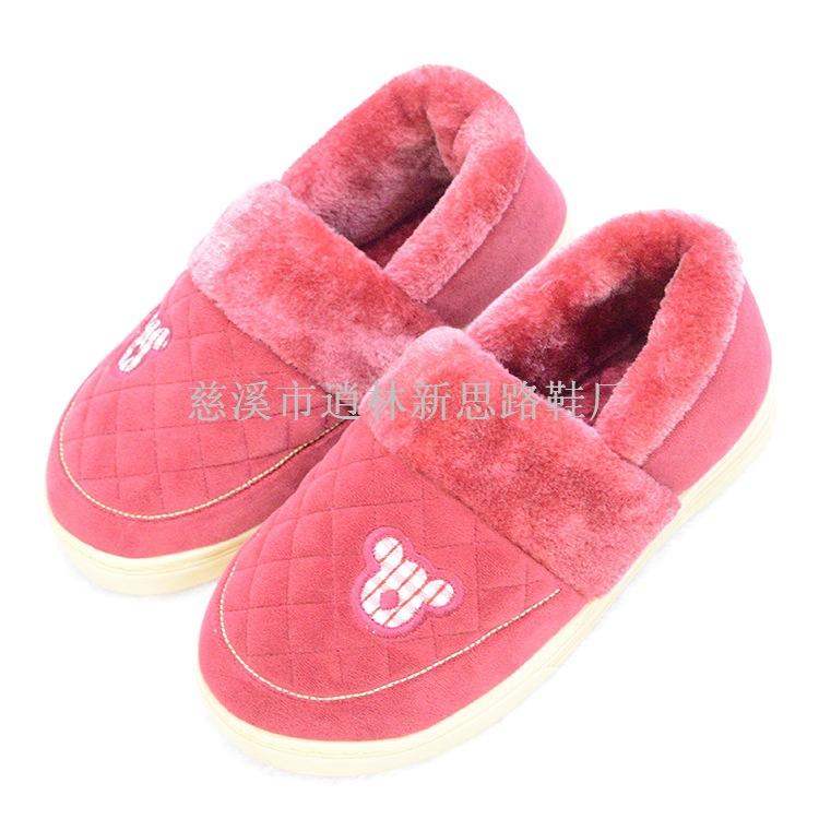 2014 冬季新款 绣花包跟棉鞋 拖鞋家居鞋 孕妇居家保暖鞋拖鞋批发