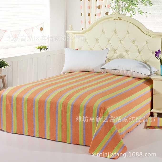 批发全工艺老粗布四季布凉席布印花布床上用品