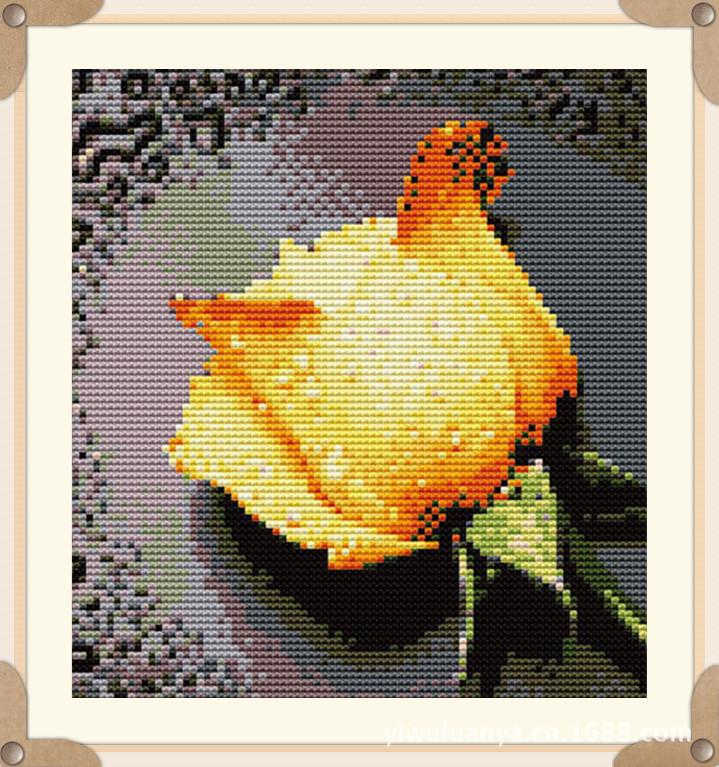客厅 义乌/低价批发义乌钻石画滴水玫瑰客厅diy装饰用品免费一件代发