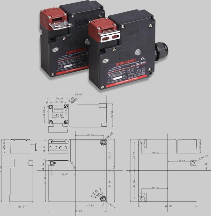 深圳供应台湾思诺奇SHINOZAKI小型电磁锁安全门开关D4N-1AF