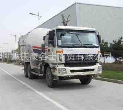 欧曼BJ5253GJB-XA混凝土搅拌运输车ISM11E4 345西安康明斯发动机