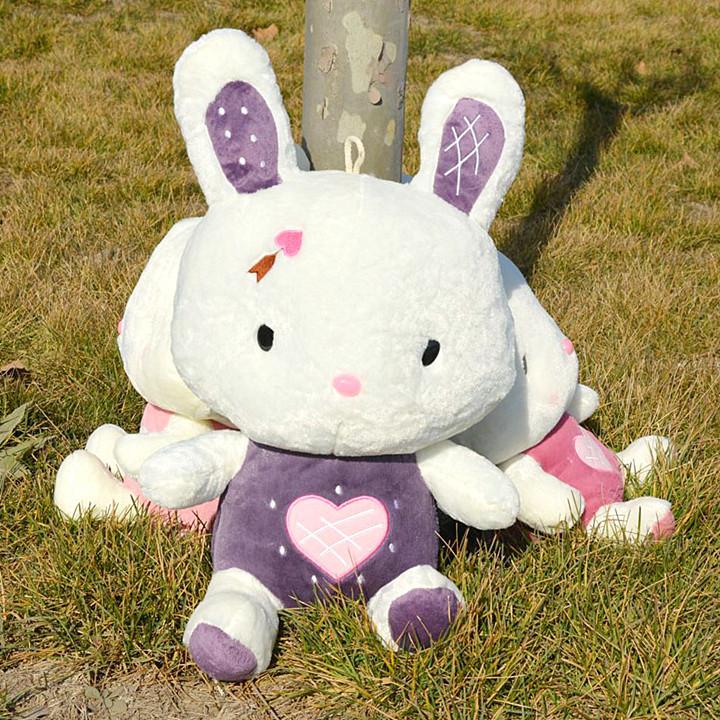 批发 毛绒玩具小白兔卡通玩偶兔乖乖公仔长耳朵爱神兔礼物 毛绒玩具