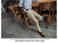 Мужские классические брюки spring and autumn male casual western-style trousers male trousers slim fashion men's clothing skinny pants trousers