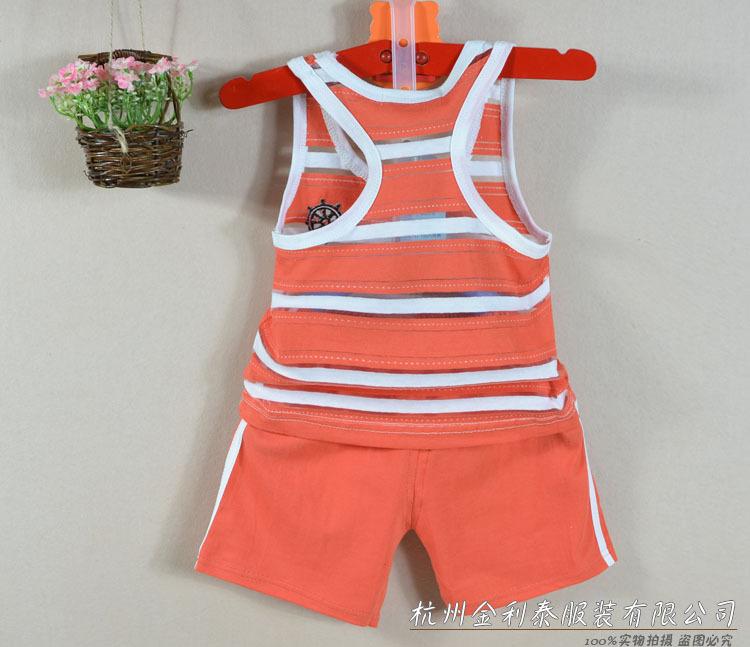 背心短裤两件套 夏男女宝宝儿童套装 背心套装批发采购