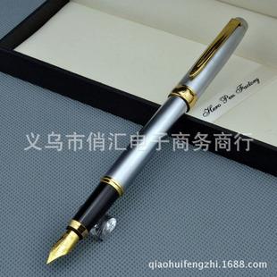 批发588银色金属笔英雄钢笔学生书法练字铱金商务钢笔