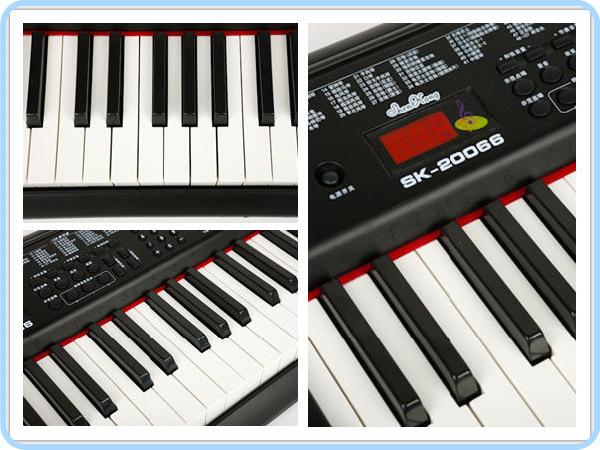 键盘类乐器 正品深港61键电子琴仿钢琴键SK 20066 教学型多功能电子