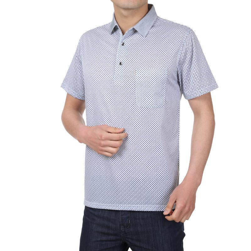 男式t恤短袖新款男士短袖t恤品牌短袖t恤 男式中老年男式短袖t恤 -价