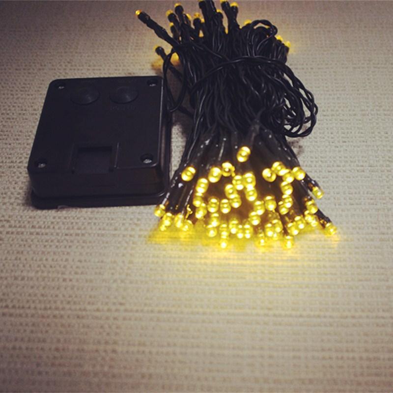 LED太阳能彩灯串 圣诞装饰铜丝灯串 200L节日串灯批发