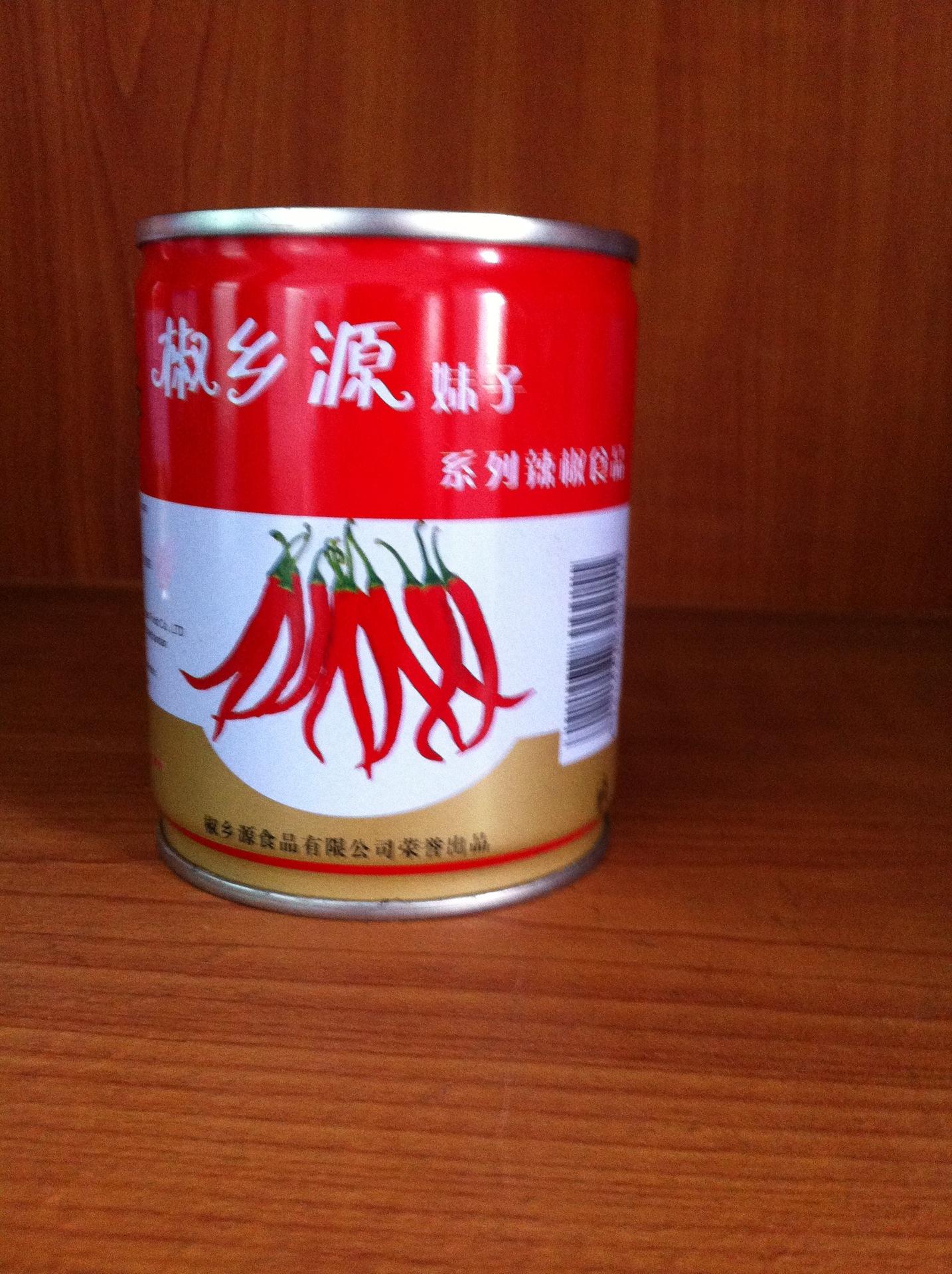 供应椒乡源辣椒酱调味品易拉罐包装248克冬天挂面怎样干图片