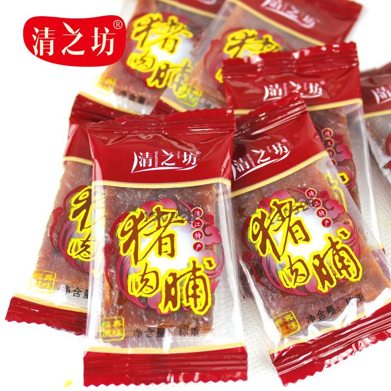 靖江特产清之坊零食味超经典 蜜汁烤猪肉脯迷你小包装 散装5斤/袋