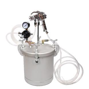 气动压力桶 气动工具涂料桶10L便携喷漆桶水包水多彩喷枪 压力罐