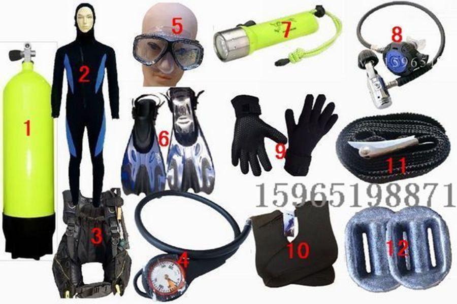 水肺潜水装备面镜气瓶全套专业潜水用品全套套装备配件呼吸
