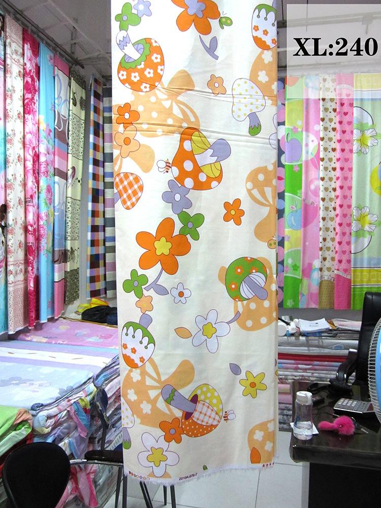 厂价直销 活性纯棉印花布料 40支斜印花 加工四件套