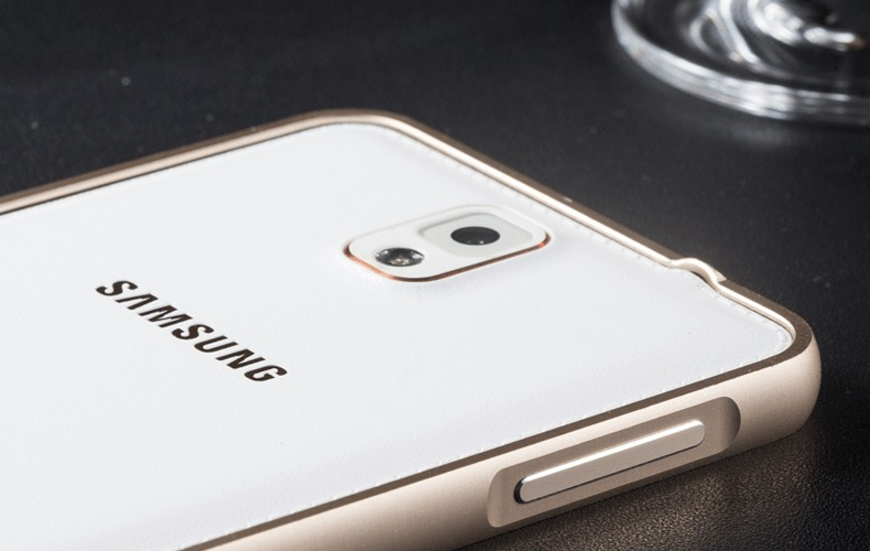 三星note3保护框 n9000手机边框海马扣0.7mm金属边框 新款圆弧边